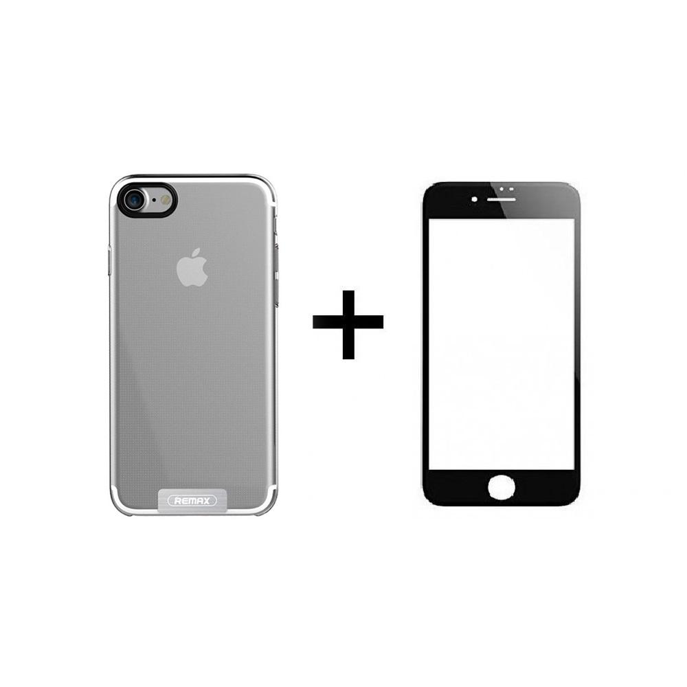 Протектор + Калъф за iPhone 7/8 Plus, Черен