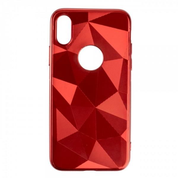Силиконов кейс Trilux за iPhone XS Max, Червен