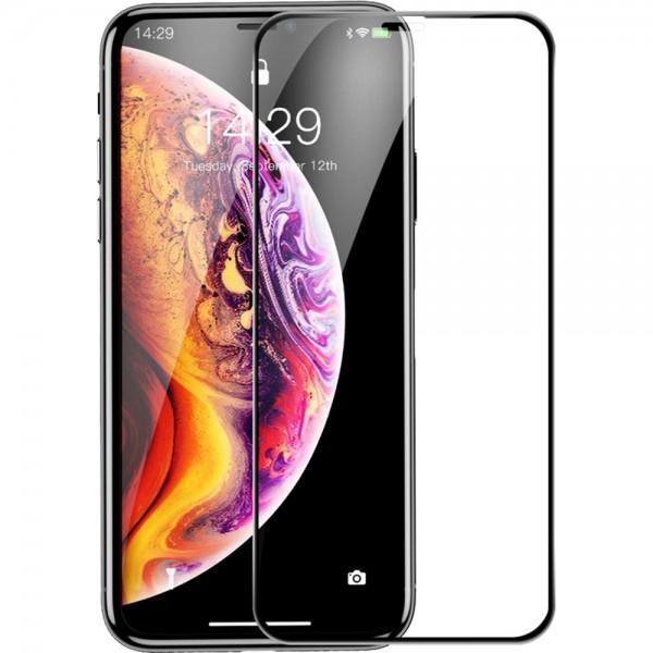 Стъклен протектор за дисплей за iPhone 11 Pro Max (6.5), Черен