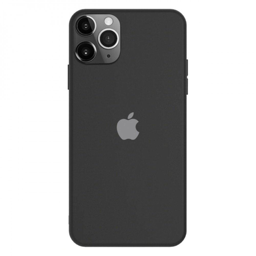 Силиконов калъф за iPhone 12 Mini, Черен