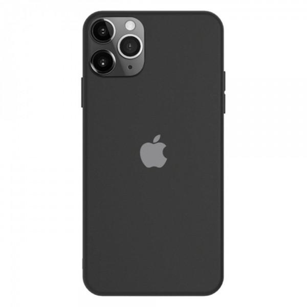 Силиконов калъф за iPhone 12 Pro Max, Черен
