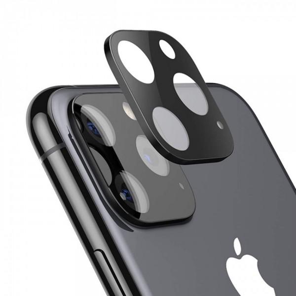 Стъклен протектор за задна камера за iPhone 11 Pro, Pro Max, Черен