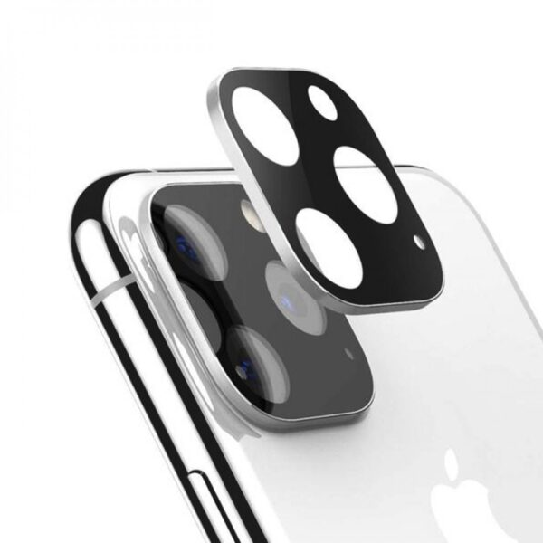 Стъклен протектор за задна камера за iPhone 11 Pro, Pro Max, Сребрист