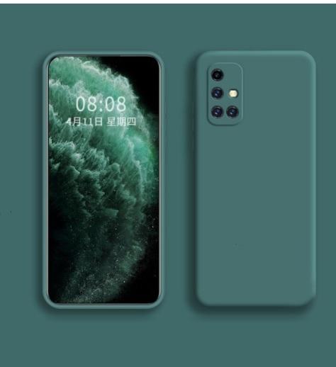 Силиконов калъф за Samsung Galaxy A71, Масленозелен