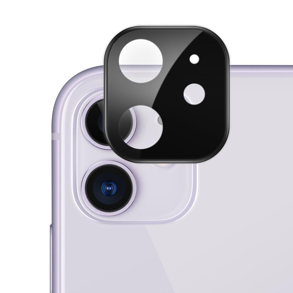 Стъклен протектор за задна камера на Apple iPhone 11, Черен