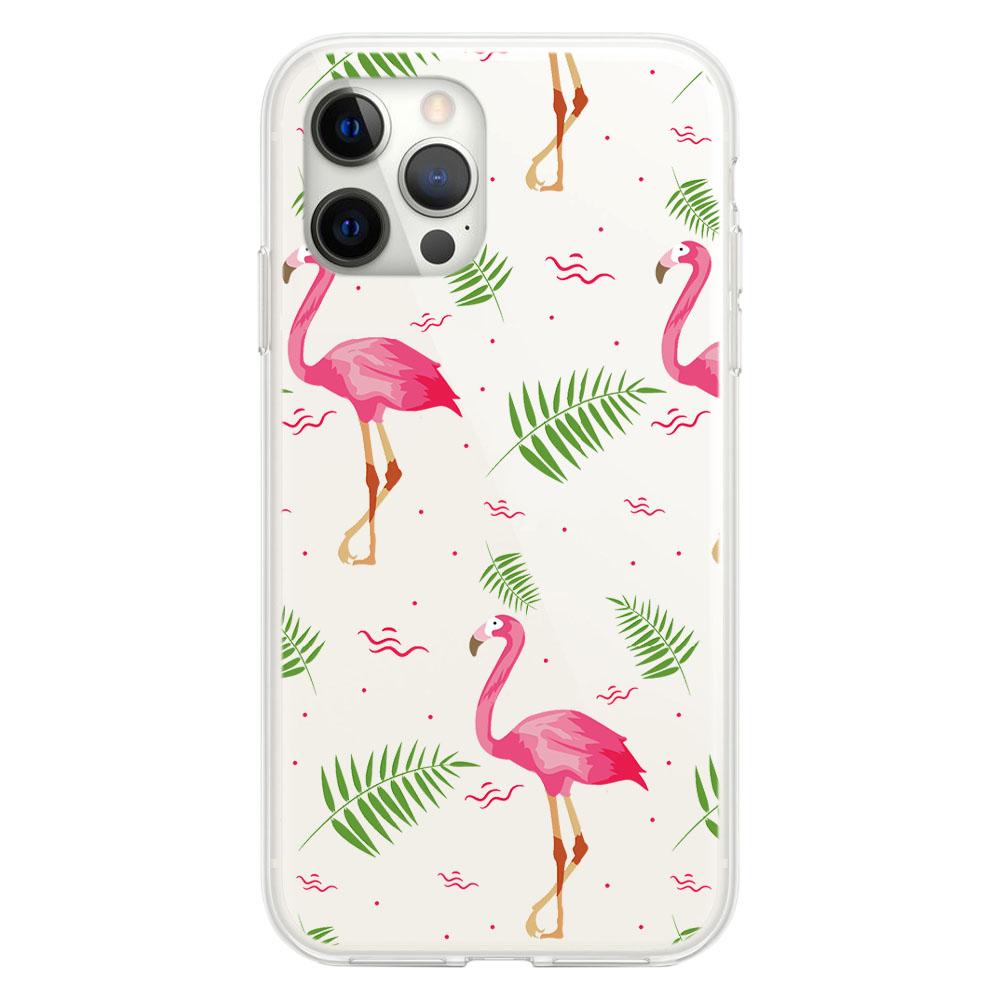 Стилен кейс с фламинго за iPhone 12/ 12 Pro (6.1)