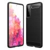 Силиконов кейс за Samsung Galaxy S21, карбон